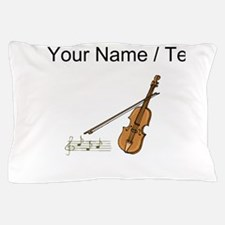 Custom Violin And Musical Notes Pillow Case