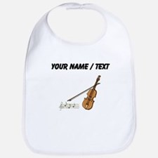 Custom Violin And Musical Notes Bib