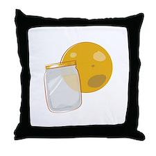 Moonshine Jar Throw Pillow