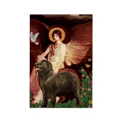 Angel & Newfoundland (B2S) Rectangle Magnet (10 pa