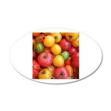 Colorful tomatoes macro food photography Wall Stic