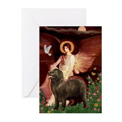 Angel & Newfoundland (B2S) Greeting Cards (Pk of 1