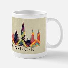 Polygon Mosaic Skyline of Venice Italy Mugs
