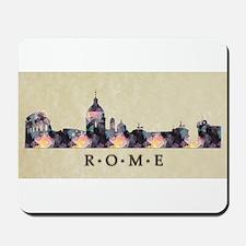 Polygon Mosaic Skyline of Rome Italy Mousepad