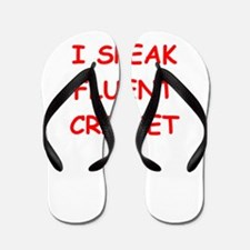 i love cricket Flip Flops