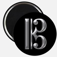 Silver Alto Clef - C Clef Magnets