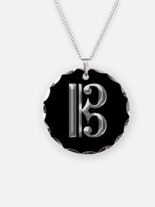 Silver Alto Clef - C Clef Necklace