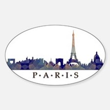 Mosaic Skyline of Paris France Decal