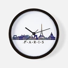 Mosaic Skyline of Paris France Wall Clock