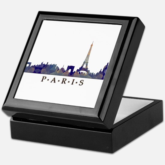 Mosaic Skyline of Paris France Keepsake Box