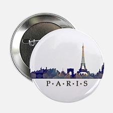 "Mosaic Skyline of Paris France 2.25"" Button"