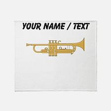Custom Trumpet Throw Blanket