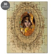 Lady in a frame Illustration by Rolf Armstr Puzzle