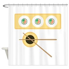 Sushi Soy Sauce Shower Curtain