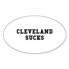 Cleveland Sucks Oval Decal