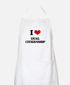 I Love Dual Citizenship Apron