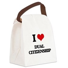 I Love Dual Citizenship Canvas Lunch Bag