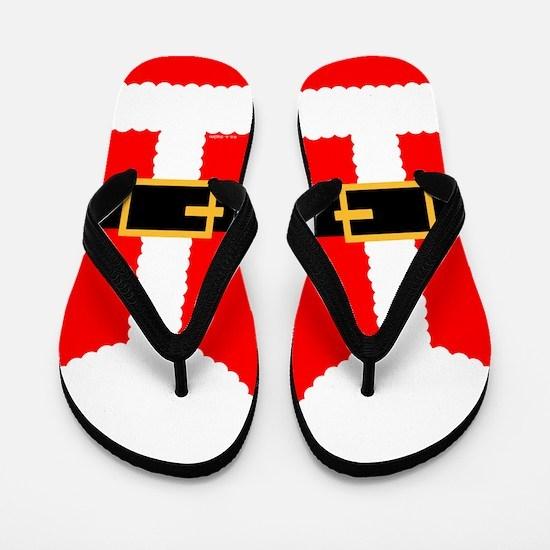 Santa Claus Suit Flip Flops