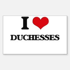 I Love Duchesses Decal