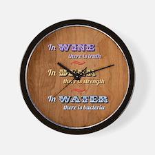 German Proverb V Wall Clock