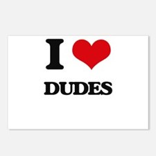 I Love Dudes Postcards (Package of 8)