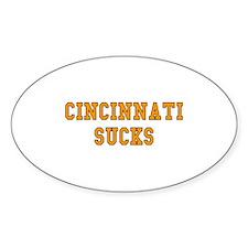 Cincinnati Sucks Oval Decal