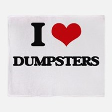 I Love Dumpsters Throw Blanket