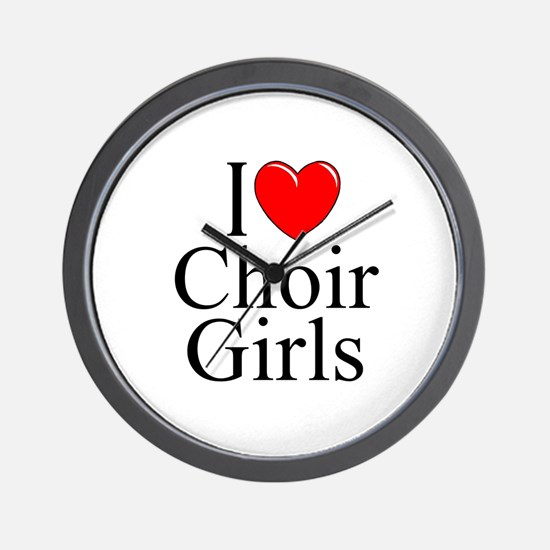 """I Love (Heart) Choir Girls"" Wall Clock"