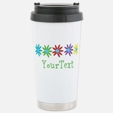 Optional Text Flowers Travel Mug