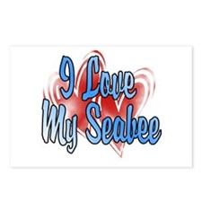 I love my Seabee Postcards (Package of 8)