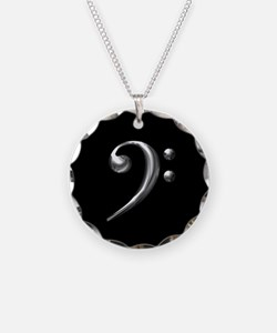 Silver Bass Clef Necklace
