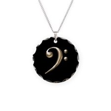 Gold Bass Clef Necklace