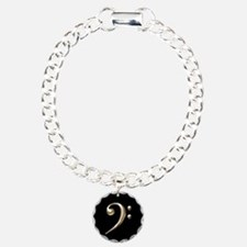 Gold Bass Clef Bracelet