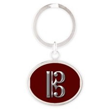 Funny Clef Oval Keychain