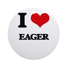 I love Eager Ornament (Round)