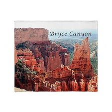 Bryce Canyon, Utah, USA 5 (caption) Throw Blanket