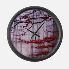 Misty Woods Large Wall Clock