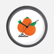 Oh Clementine Wall Clock