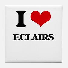 I love Eclairs Tile Coaster