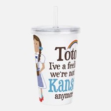 Dorothy Kansas Quote Acrylic Double-wall Tumbler
