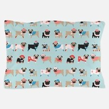 Cute Pug christmas Pillow Case