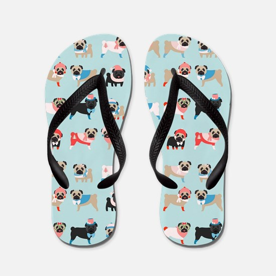 Cute Pug Flip Flops