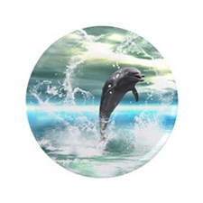 Dolphin jumping in the sea with waves as heart 3.5
