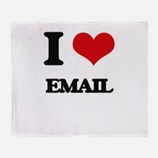 I love Email Throw Blanket