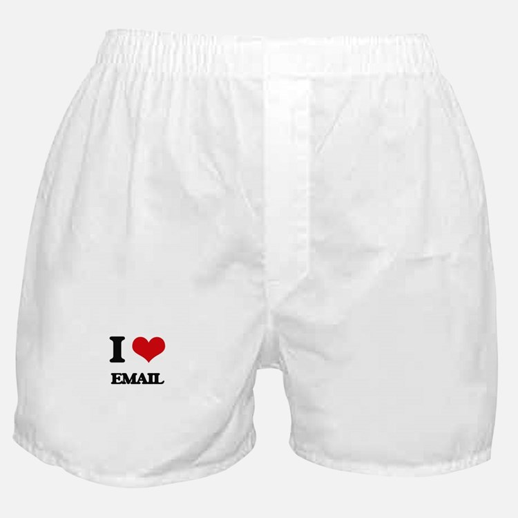 I love Email Boxer Shorts