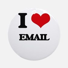 I love Email Ornament (Round)