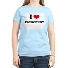 I love Embroidery T-Shirt