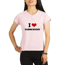 I love Embroidery Performance Dry T-Shirt