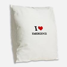 I love Emergence Burlap Throw Pillow