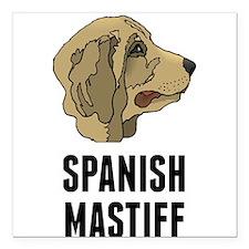 """Spanish Mastiff Square Car Magnet 3"""" x 3"""""""